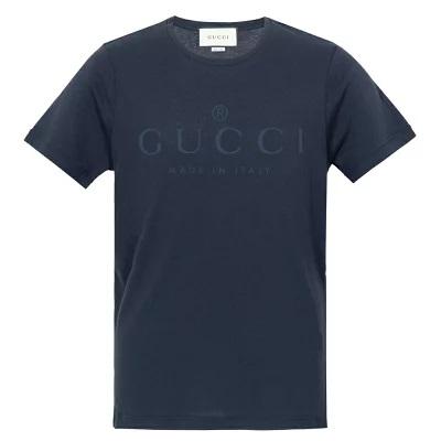 グッチ Tシャツ GUCCI L ロゴ ネイビー レディース メンズ 441685 X3A80 4113