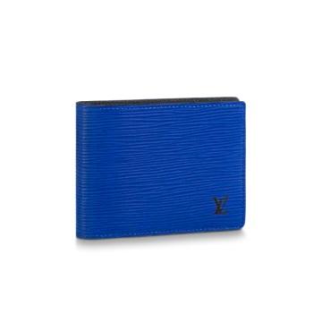 LOUIS VUITTON ポルトフォイユ・ミュルティプル エピ モノグラム・エクリプス ブルー M80770