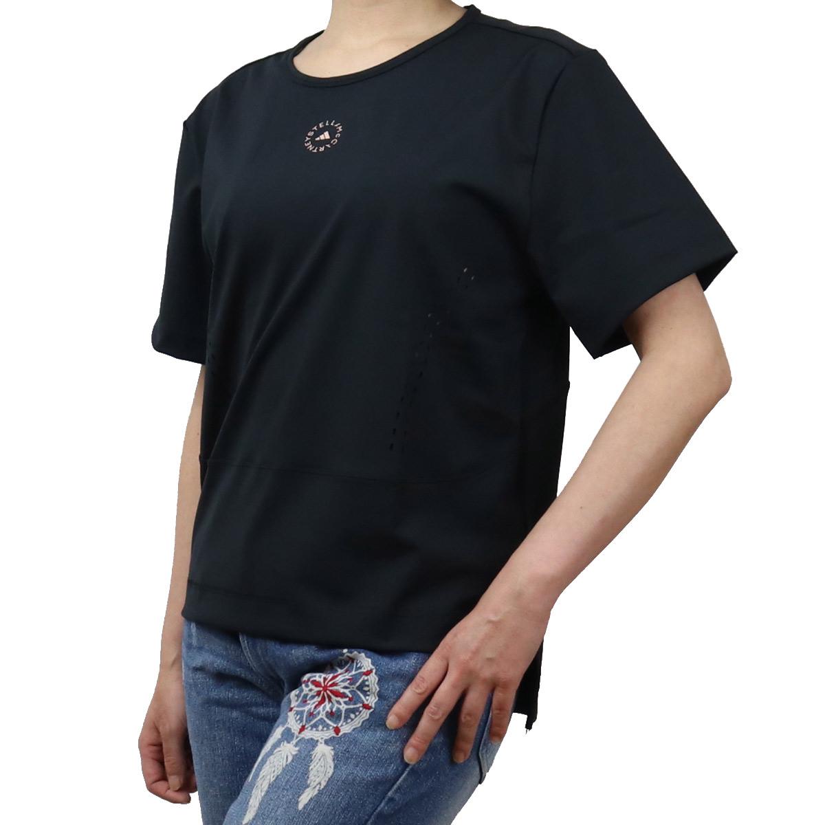 アディダスバイステラマッカートニー ADIDAS BY STELLA MCCARTNY レディース-Tシャツ アディダス コラボ adidas FU1585 ブラック bos-01 apparel-01  レディース ts-01