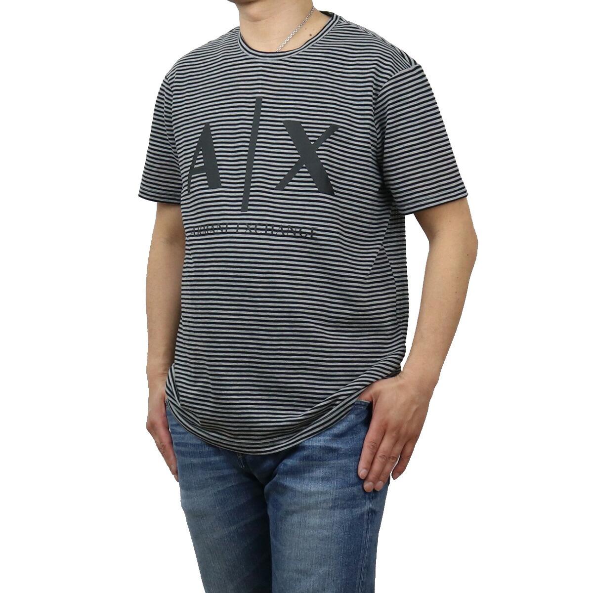 アルマーニエクスチェ ARMANI EXCHANGE メンズ-Tシャツ 3KZMAA ZJKTZ 3932 ブラック グレー系 apparel-01 ts-01 メンズ