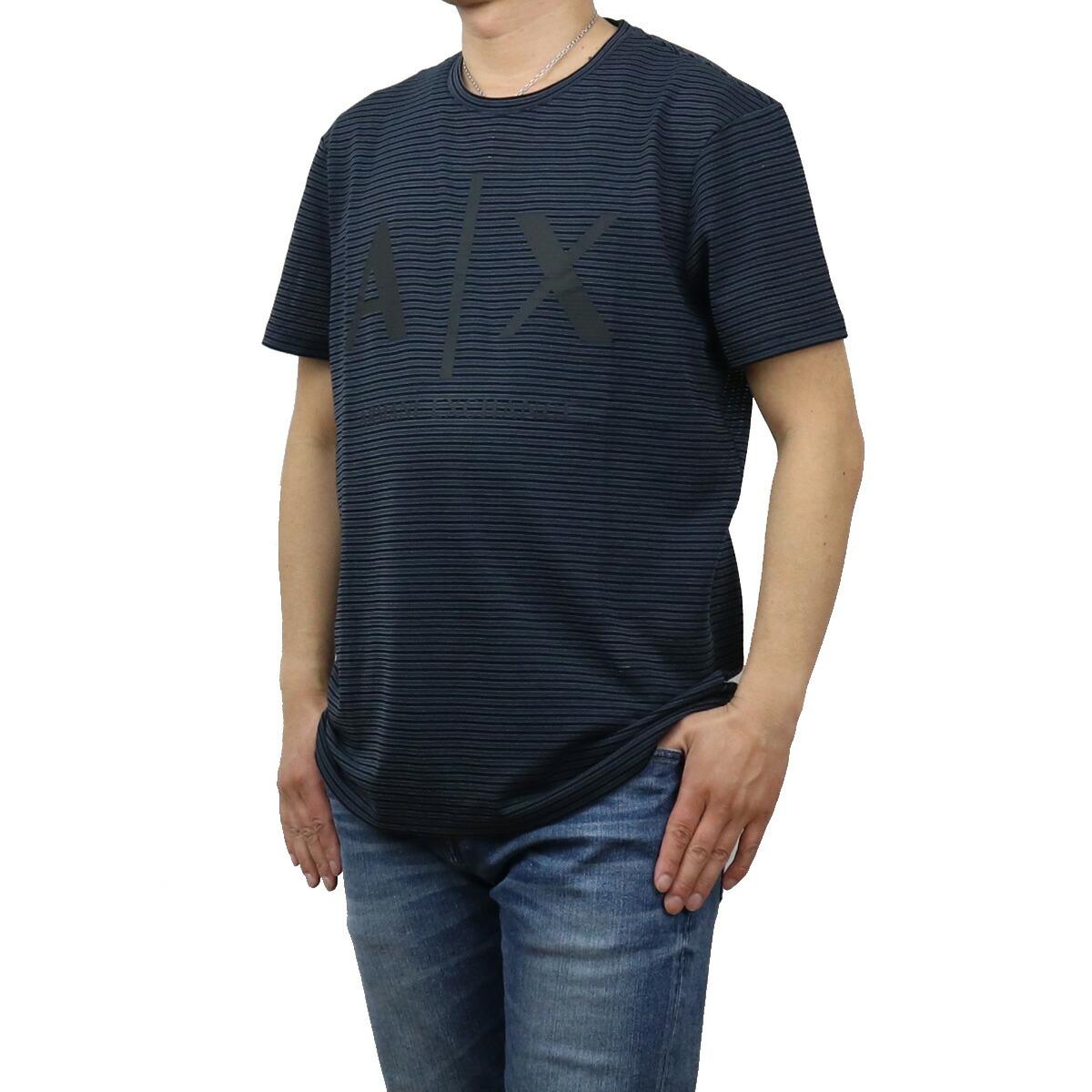 アルマーニエクスチェ ARMANI EXCHANGE メンズ-Tシャツ 3KZMAA ZJKTZ 5560 ネイビー系 apparel-01 ts-01 メンズ