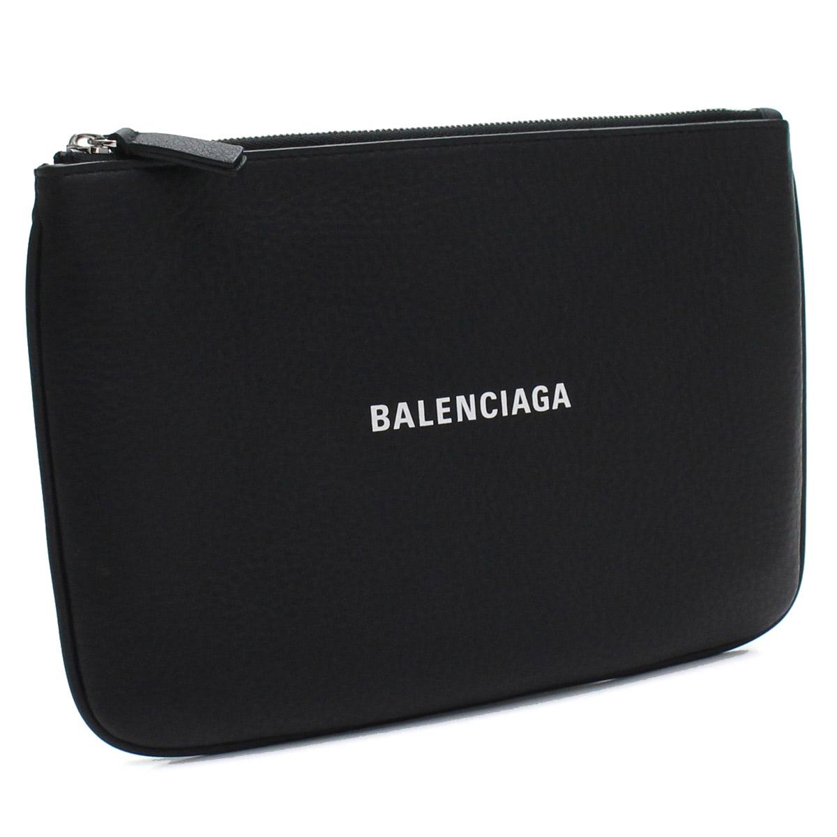 バレンシアガ BALENCIAGA エブリデイ M ポーチ 551992 DLQ4N 1000 NOIR/L BLANC ブラック  メンズ