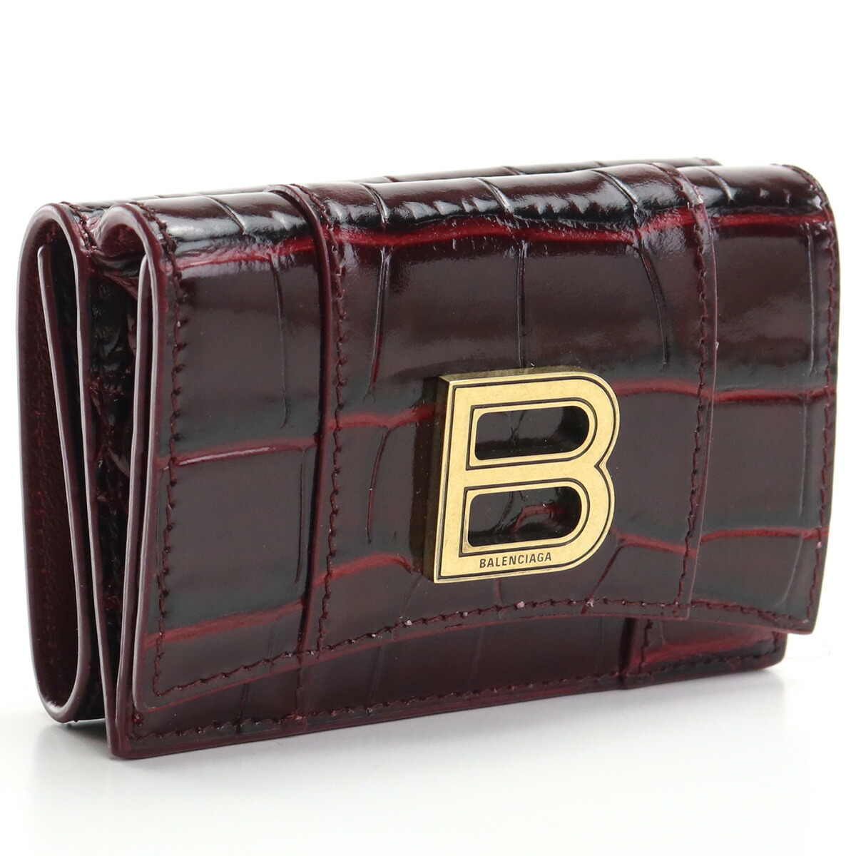 バレンシアガ BALENCIAGA  3つ折り財布 ミニ財布 コンパクト財布 600212 1LRGM 6515 レッド系 wallet-01