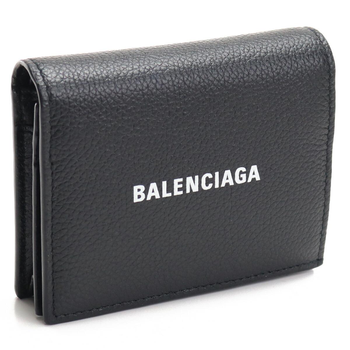 バレンシアガ BALENCIAGA  2つ折り財布 ミニ財布 コンパクト財布 ブランド財布 655685 1IZI3 1090 ブラック bos-09 gsw-3 gsm-3