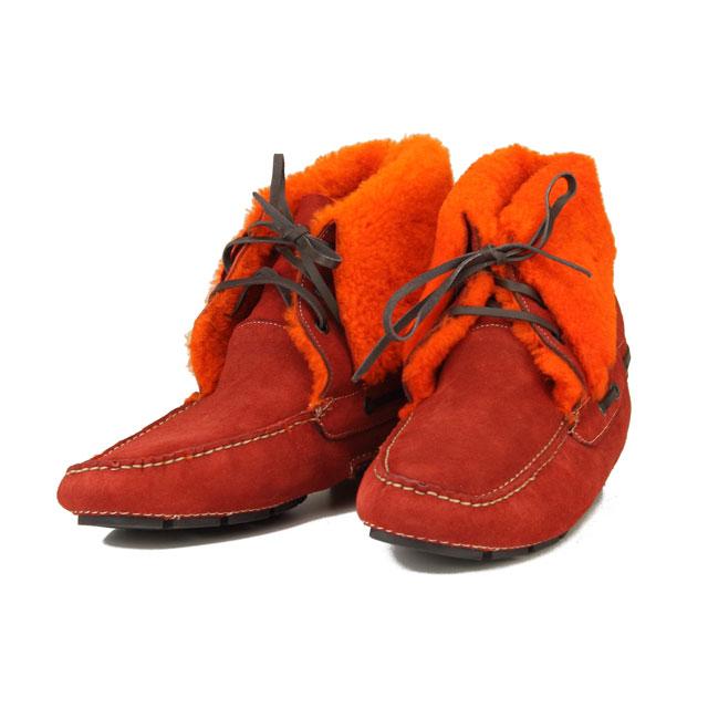 ボルジョーリ Borgioli ハンドメイドムートンブーツスエードシューズ 9011840 BOLERO レッド系/オレンジ系 メンズ