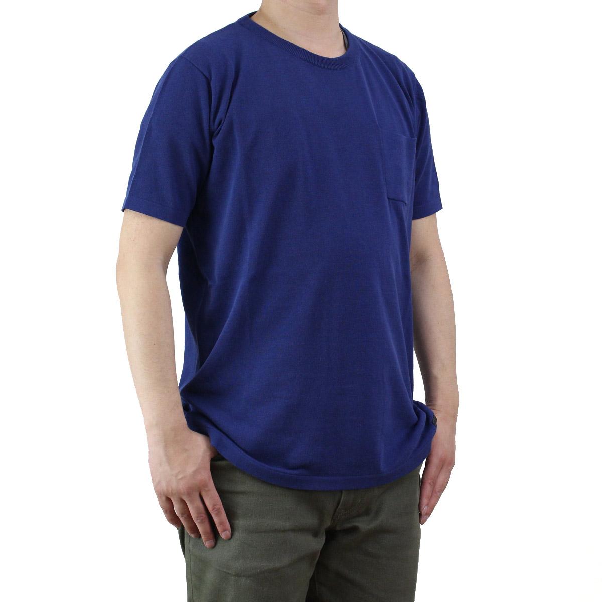 バーク Bark  メンズ 半袖 サマー セーター 71B6006 253 BLUE ブルー系  メンズ OLS-4
