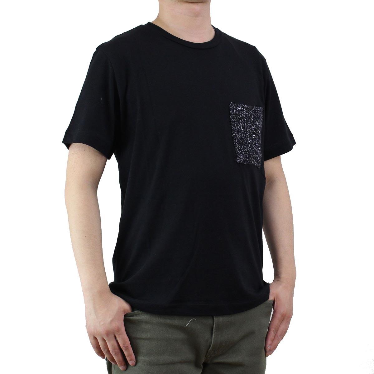 バーク Bark  メンズ 半袖 Tシャツ 71B8703 261 BLACK ブラック  メンズ ティーシャツ ティーシャツ T shirt OLS-4  ts-01