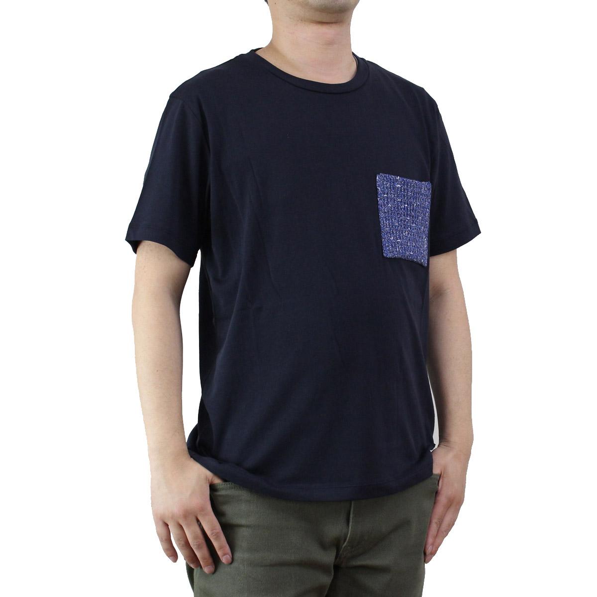 バーク Bark  メンズ 半袖 Tシャツ 71B8703 254 NAVY ネイビー系  メンズ ティーシャツ ティーシャツ T shirt OLS-4  ts-01