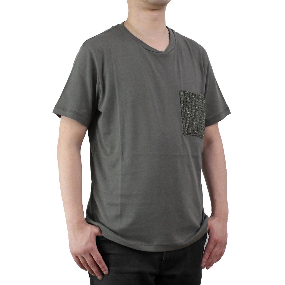 バーク Bark  メンズ 半袖 Tシャツ 71B8703 272 KHAKI  メンズ ティーシャツ ティーシャツ T shirt OLS-4  ts-01
