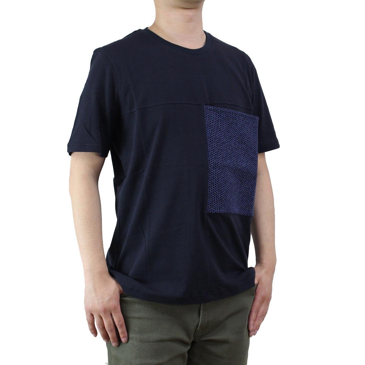 バーク Bark  メンズ 半袖 クルーネック Tシャツ 71B8706 254 NAVY ネイビー系  メンズ ティーシャツ ティーシャツ T shirt OLS-4  ts-01