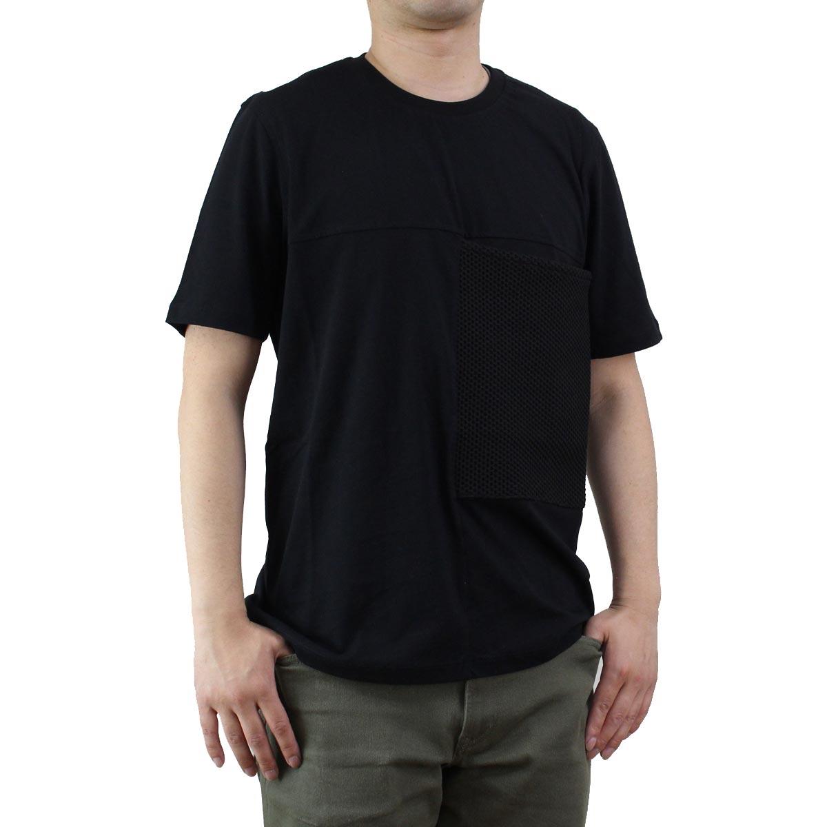 バーク Bark  メンズ クルーネック 半袖 Tシャツ 71B8706 261 BLACK ブラック  メンズ ティーシャツ ティーシャツ T shirt OLS-4  ts-01
