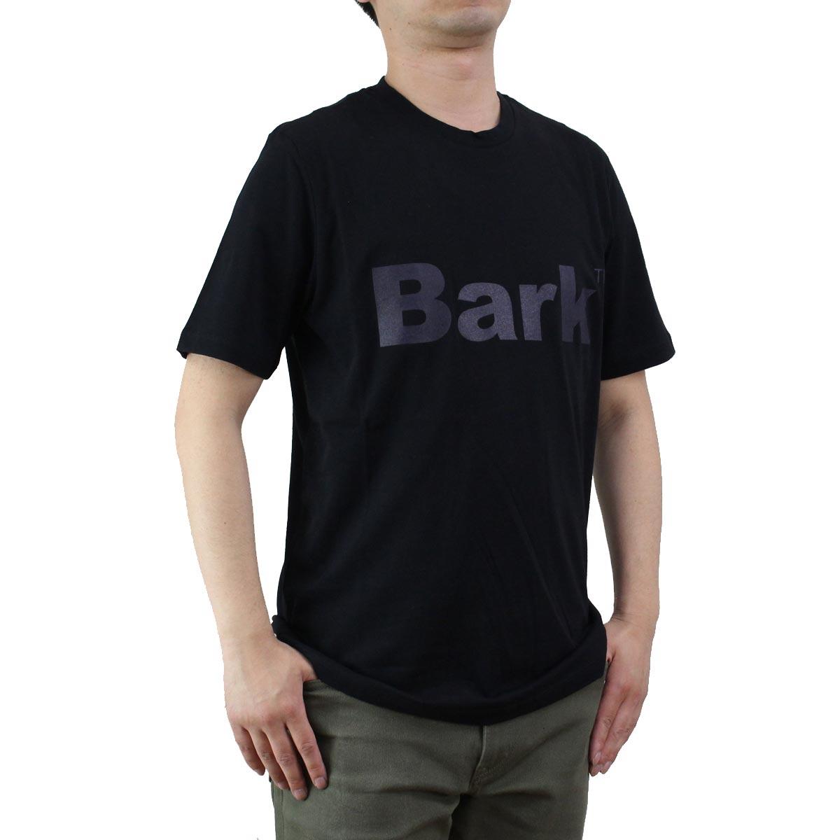 バーク Bark  メンズ クルーネック 半袖 ロゴ Tシャツ 71B8715 261 BLACK ブラック  メンズ ティーシャツ ティーシャツ T shirt OLS-4  ts-01