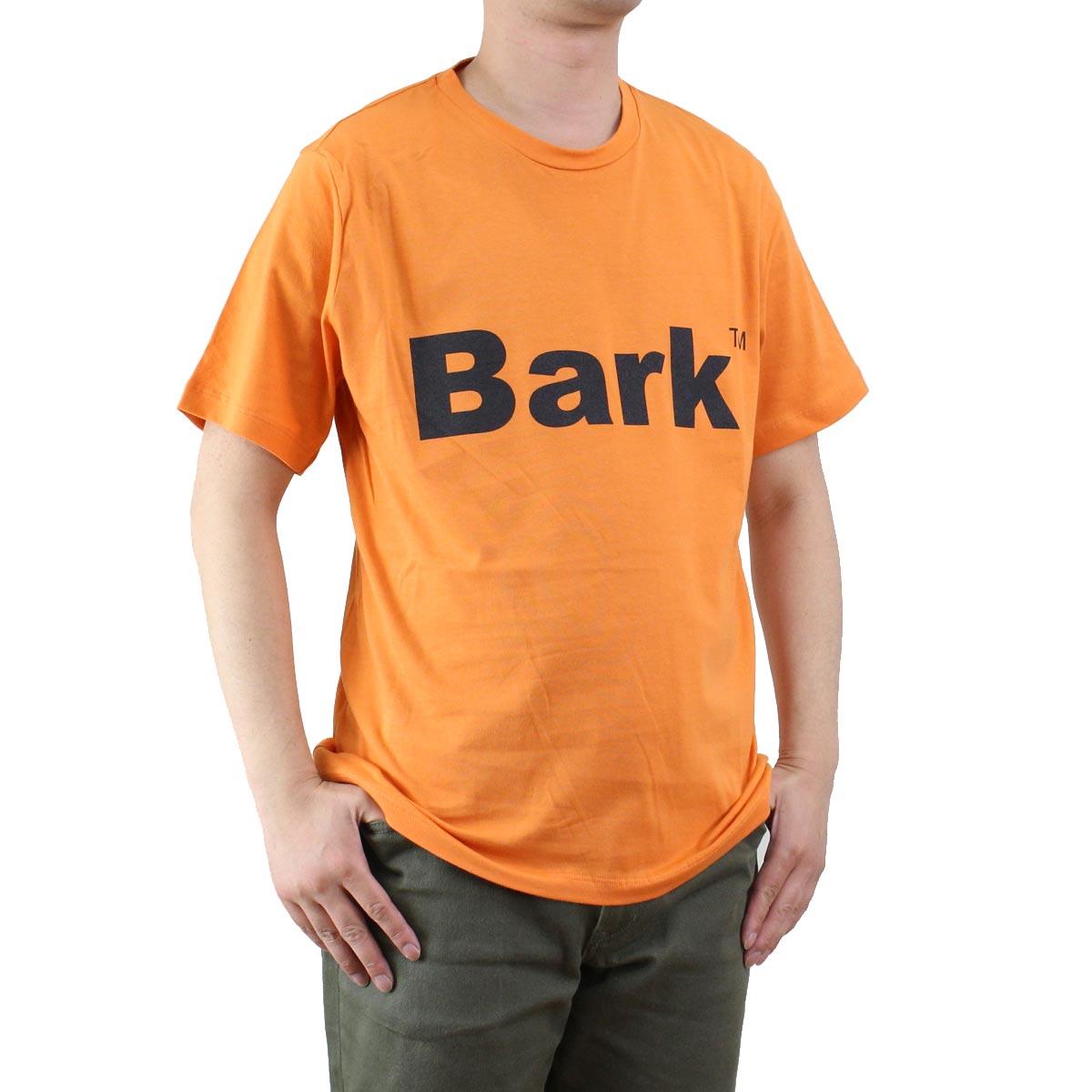 バーク Bark  メンズ クルーネック 半袖 ロゴ Tシャツ 71B8715 258 ORANGE  メンズ ティーシャツ ティーシャツ T shirt OLS-4  ts-01