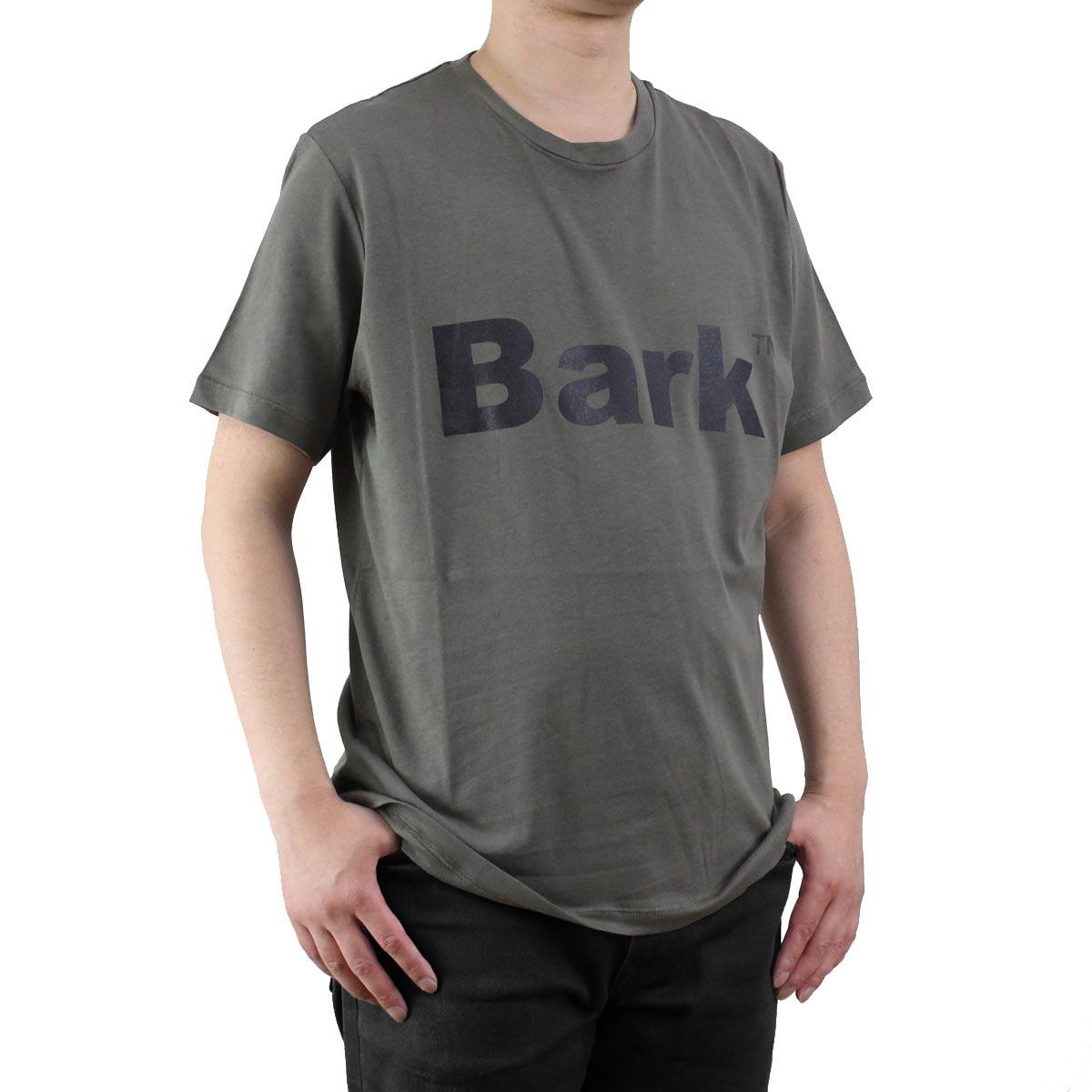 バーク Bark  メンズ クルーネック 半袖 ロゴ Tシャツ 71B8715 272 KHAKI  メンズ ティーシャツ ティーシャツ T shirt OLS-4  ts-01