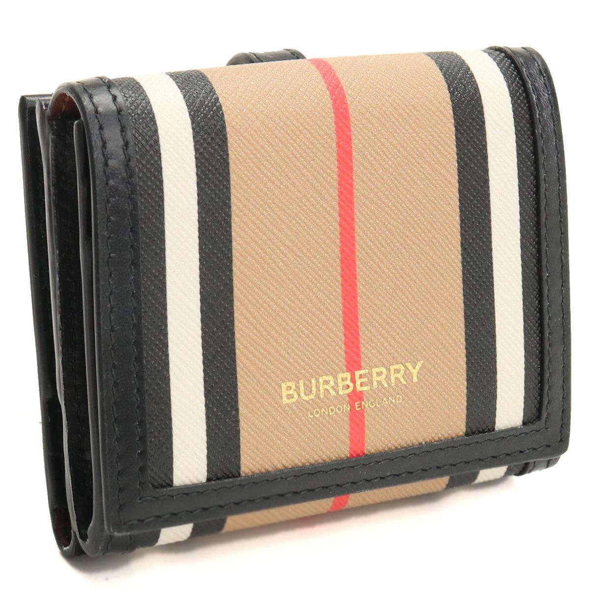 バーバリー BURBERRY  Wホック財布(S) ブランド財布 ブランドミニ財布 コンパクト財布 ブランドロゴ   8029619 A7026 ARCHIVE BEIGE マルチカラー bos-03 gsw-2