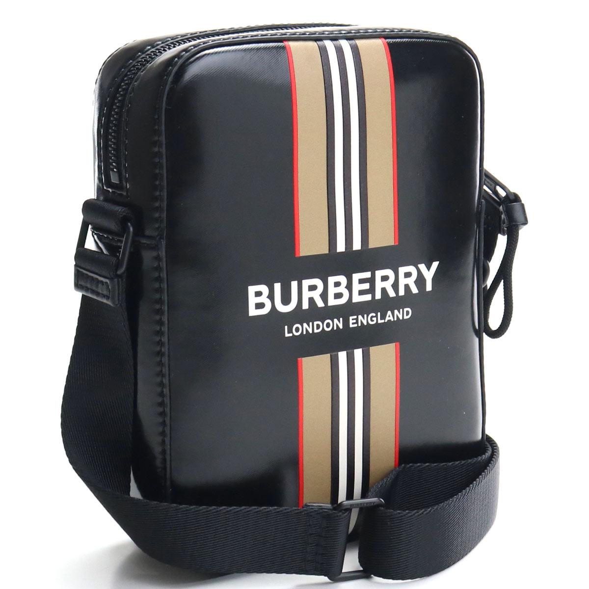 バーバリー BURBERRY 斜め掛け ショルダーバッグ 8030016 A1189 ブラック bos-03 bag01 メンズ