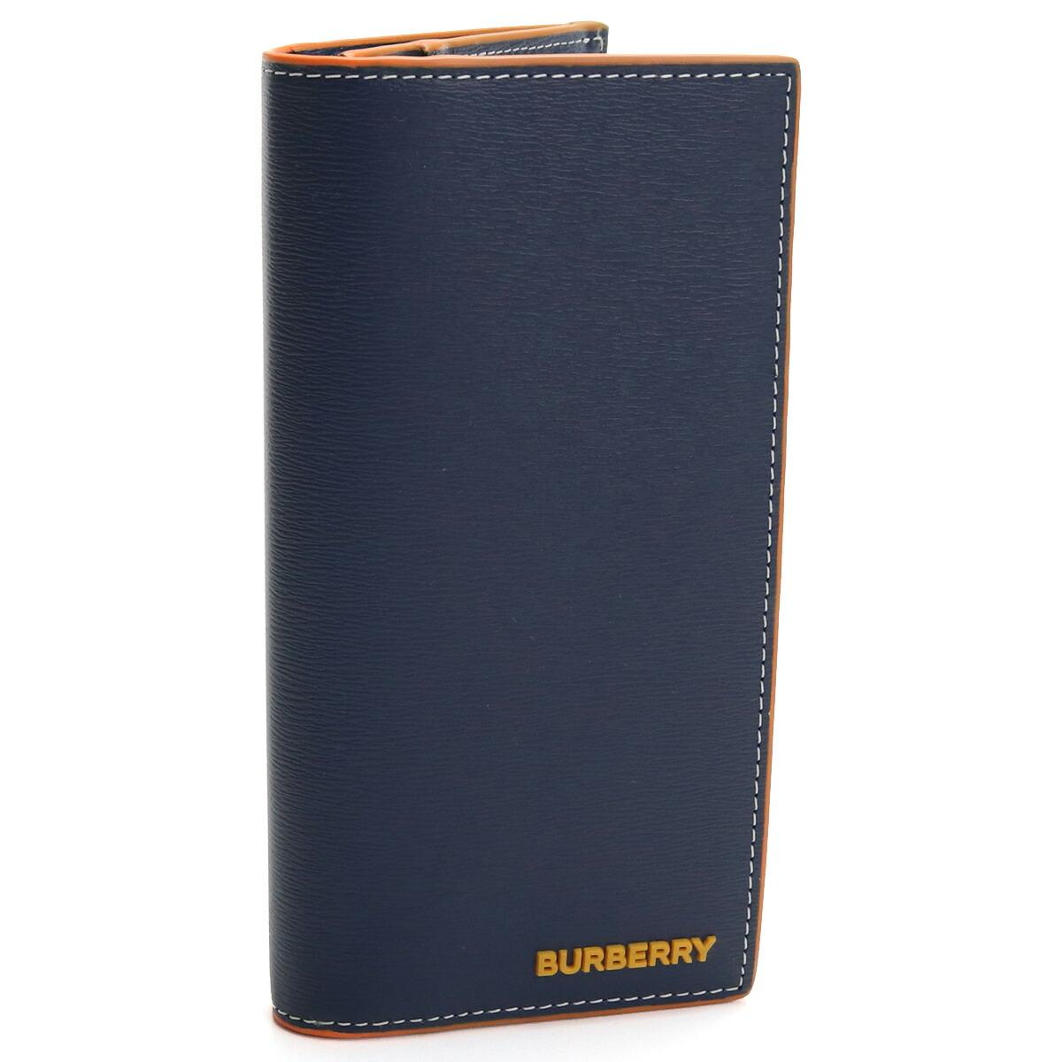 バーバリー BURBERRY 2つ折り長財布 小銭入れ付き 8030435 A1222 NAVY ネイビー系 メンズ