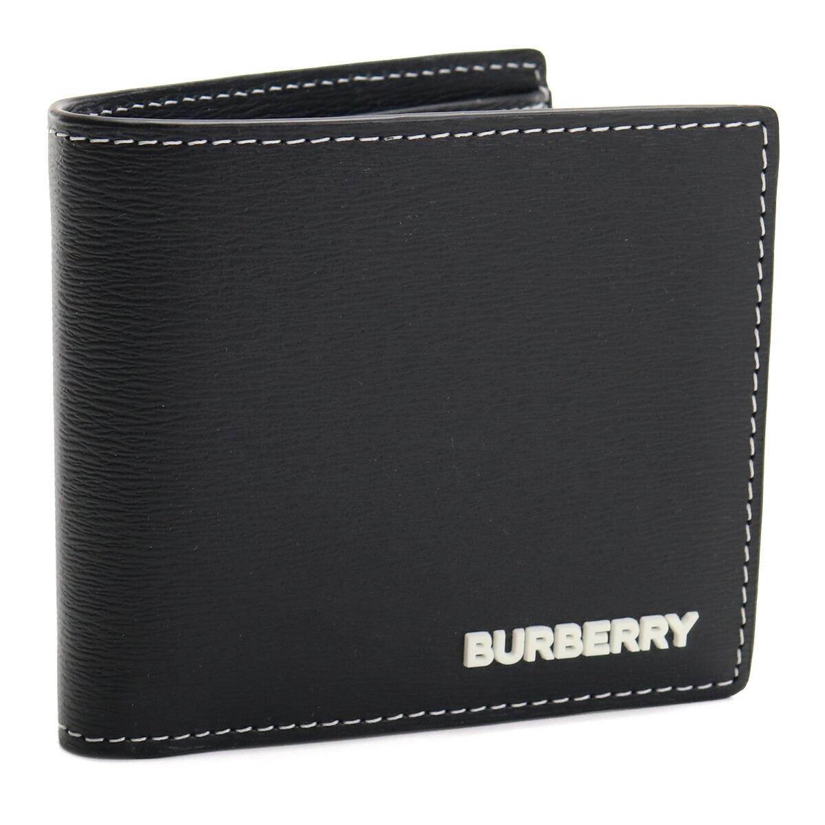 バーバリー BURBERRY 二折財布小銭入付き 8032484 A1189 BLACK ブラック メンズ