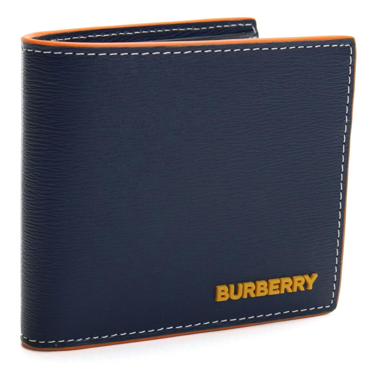 バーバリー BURBERRY 2つ折り財布 8032485 A1222 NAVY ネイビー系 メンズ