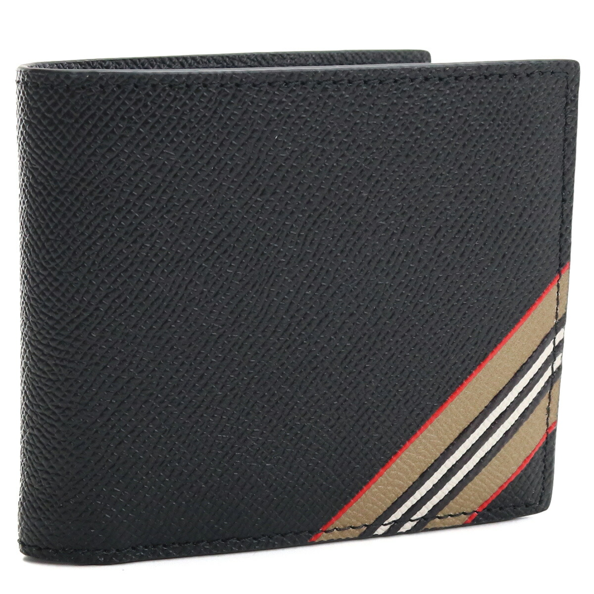 バーバリー BURBERRY  2つ折り財布 ブランド財布 ブランドミニ財布 コンパクト財布 ブランドロゴ メンズ財布 8033846 A1189 BLACK ブラック bos-03 gsm-2