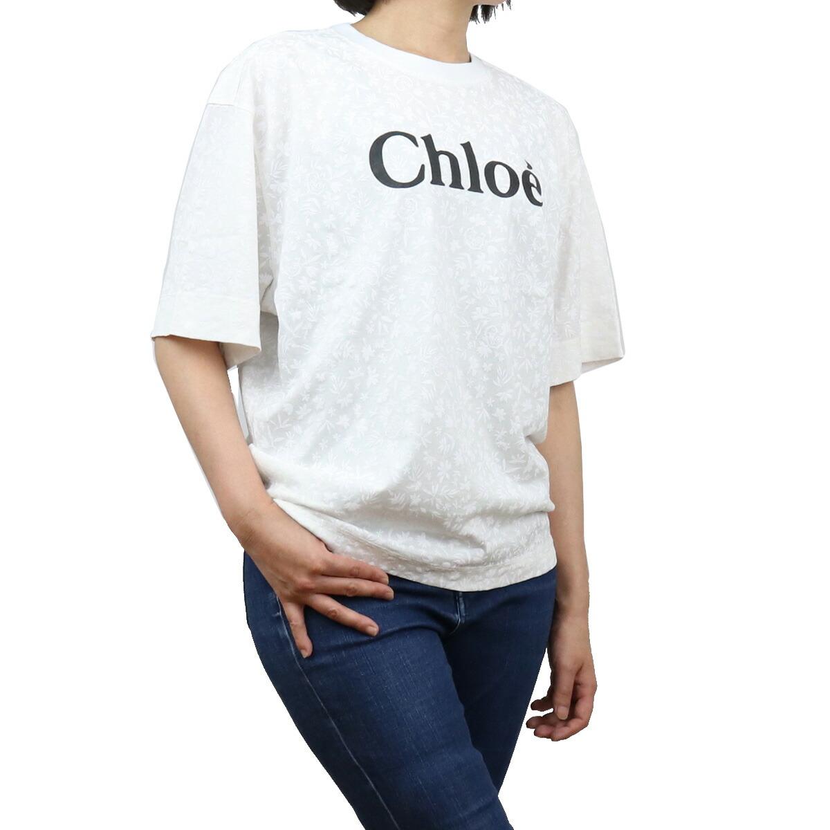 クロエ CHLOE  レディース-Tシャツ ブランドロゴ CHC21SJH83183 101 WHITE ホワイト系 apparel-01 ts-01