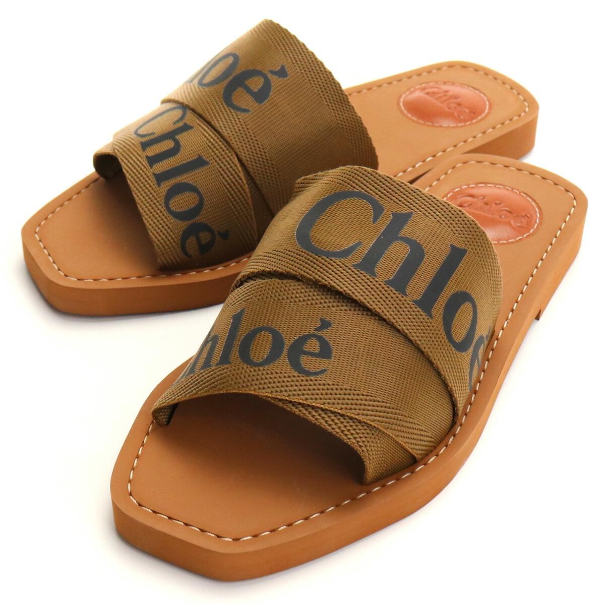 クロエ CHLOE  レディースサンダル ブランドシューズ ブランドサンダル CHC19U18808 20F ブラウン系 shoes-01