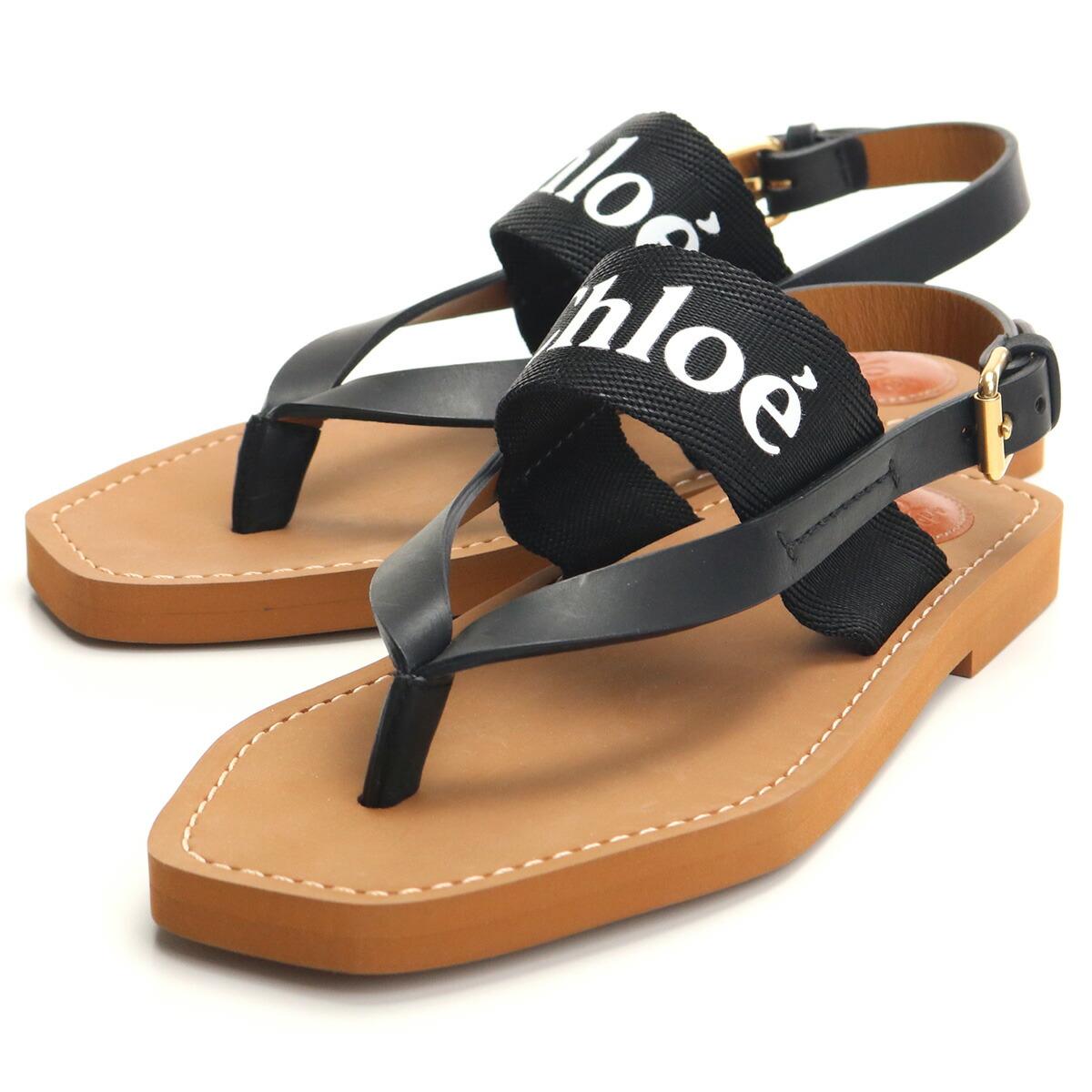 クロエ CHLOE サンダル CHC20U32708 001 BLACK ブラック shoes-01 レディース