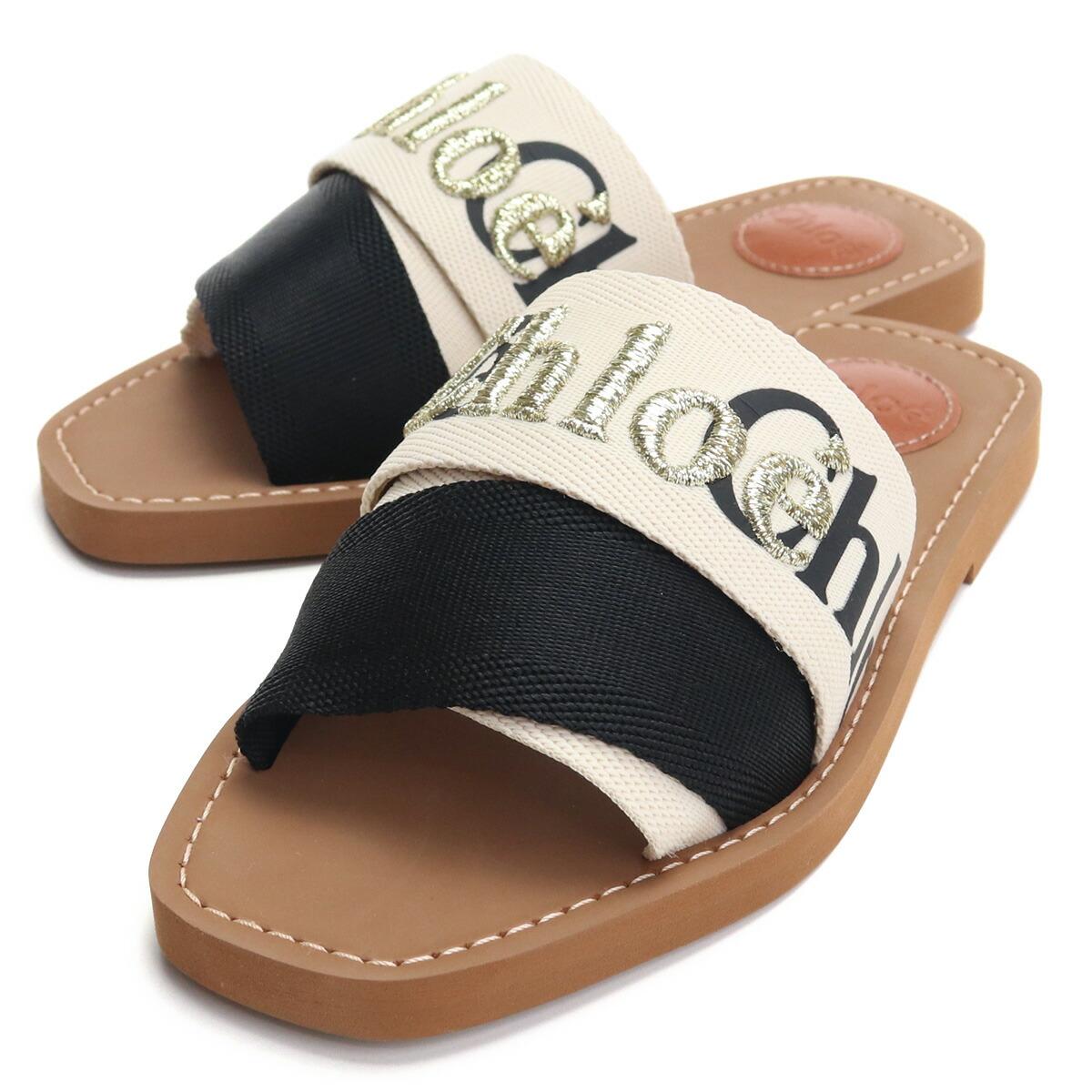 クロエ CHLOE サンダル CHC21S188Q7 905 ブラック ベージュ系 shoes-01 レディース