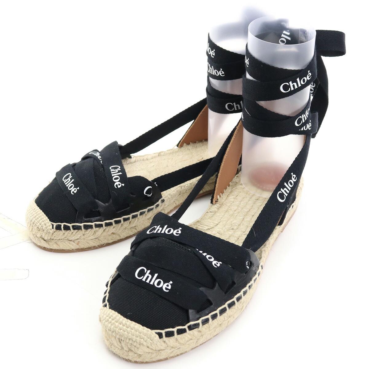 クロエ CHLOE  サンダル CHC21U444R6 001 BLACK ブラック shoes-01