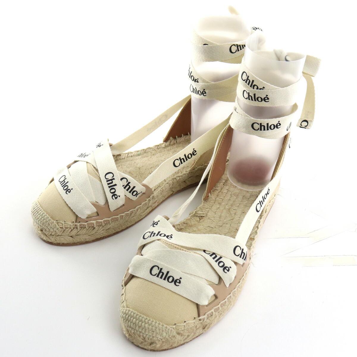 クロエ CHLOE  サンダル CHC21U444R6 275 SOFT TAN ベージュ系 shoes-01