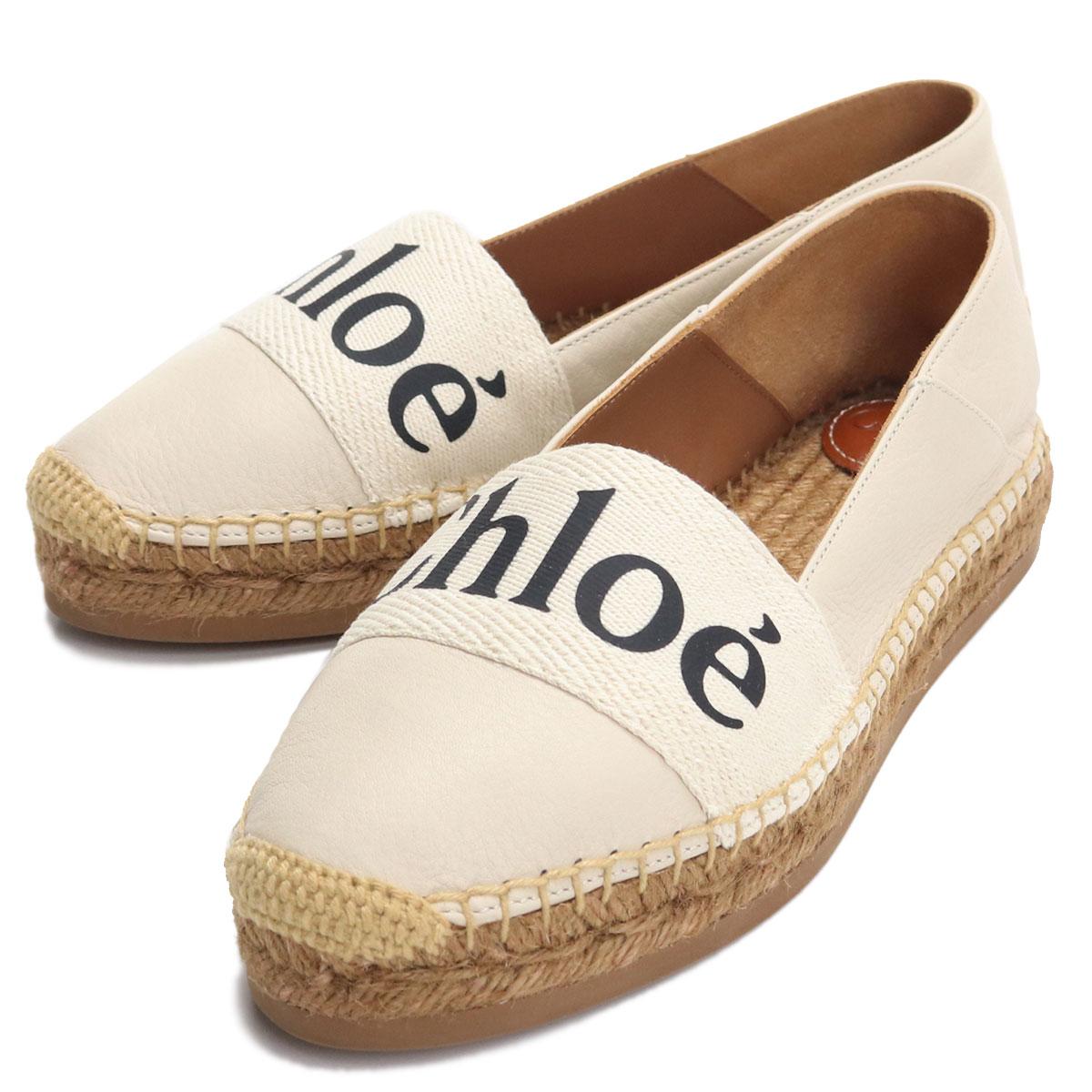 クロエ CHLOE レディースシューズ サンダル エスパドリーユ CHC21U447R4 101 WHITE ホワイト系 bos-27 shoes-01 レディース