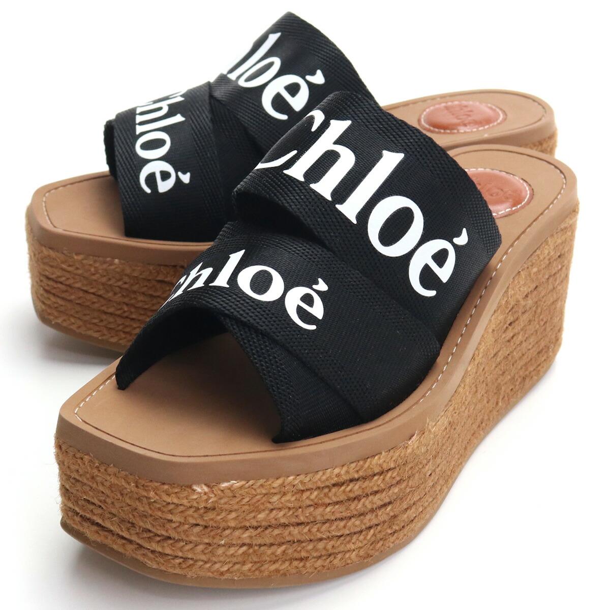 クロエ CHLOE サンダル CHC21U44908 001 BLACK ブラック shoes-01 レディース