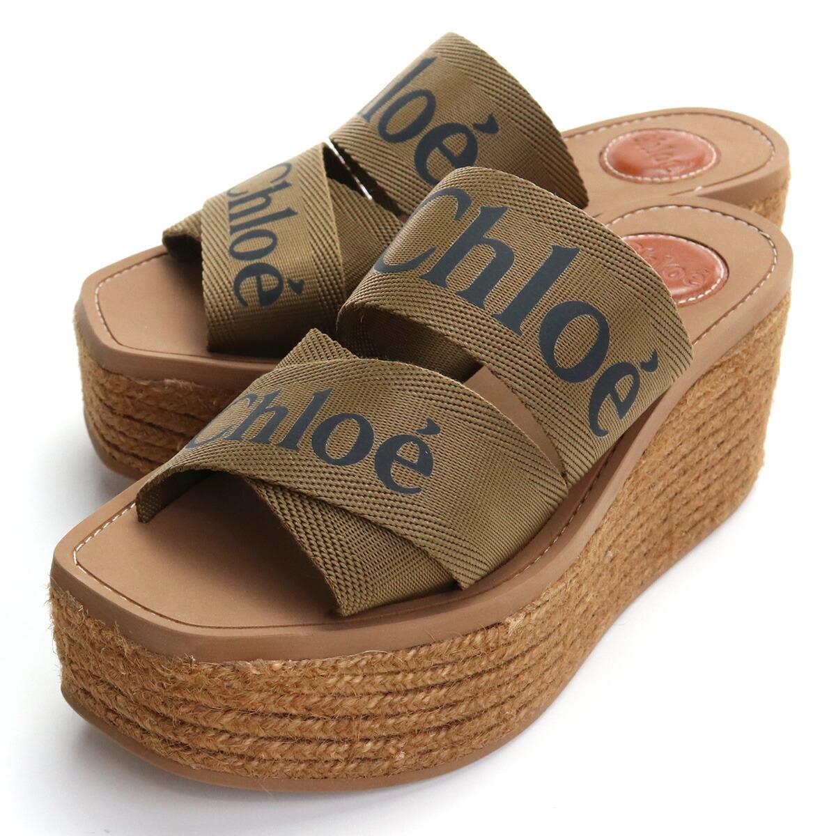 クロエ CHLOE  レディースサンダル ブランドシューズ ブランドサンダル CHC21U44908 20F ブラウン系 shoes-01