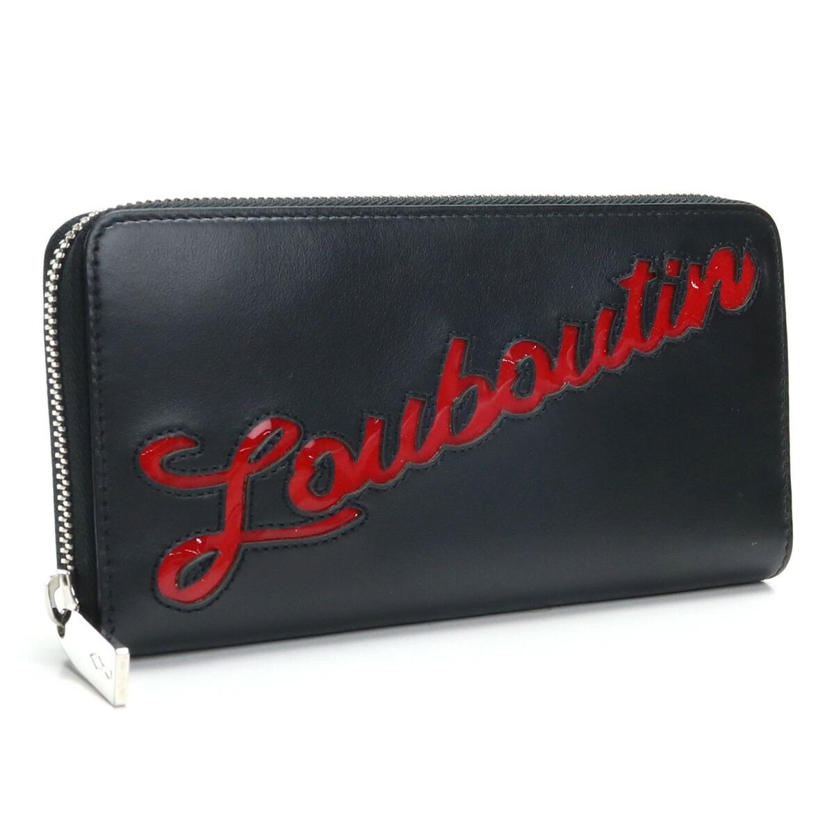 クリスチャン ルブタン Christian Louboutin ラウンドファスナー 長財布 3195121 H358 BLACK/LOUBI ブラック メンズレディース