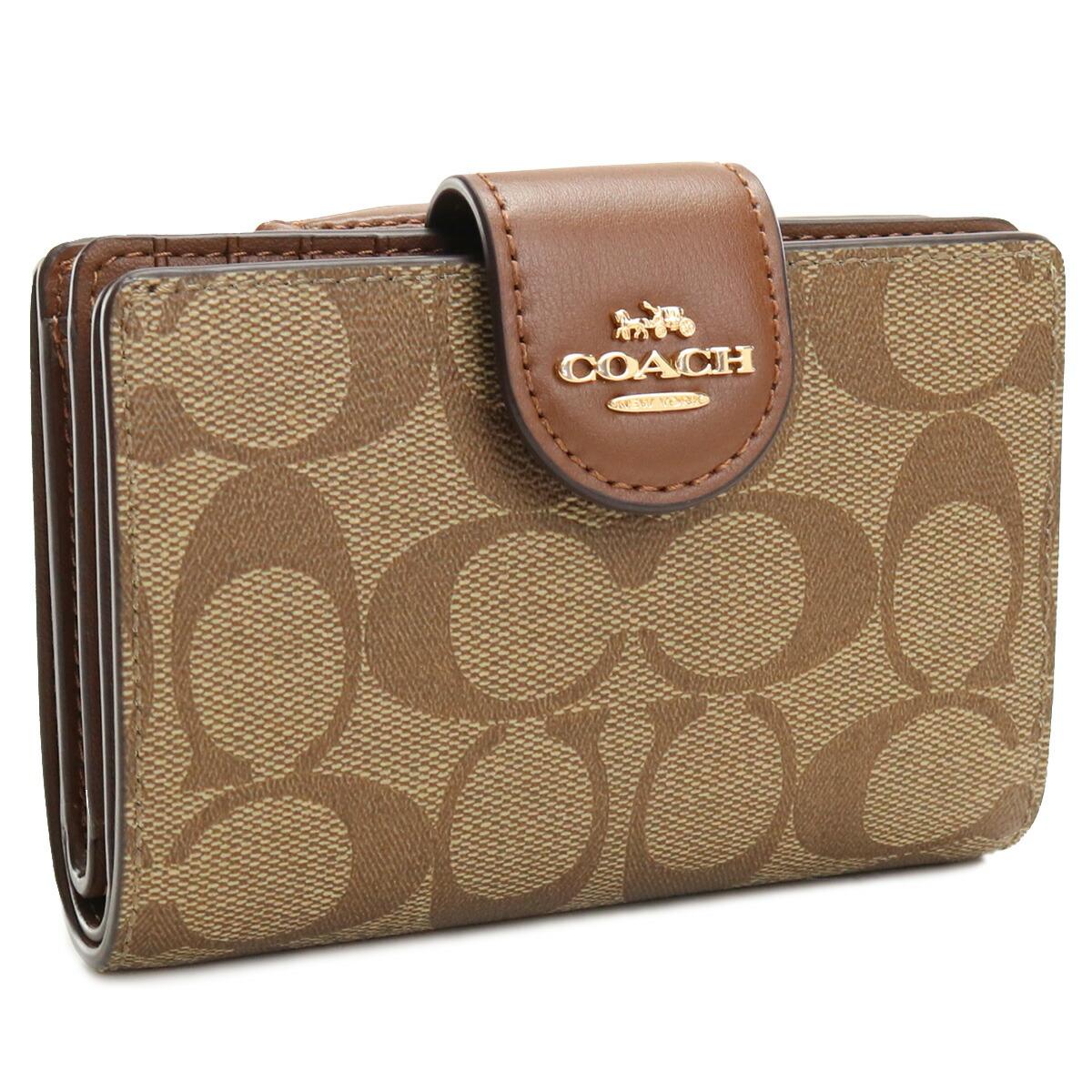コーチ COACH  2つ折り財布 C0082 IME74 ブラウン系