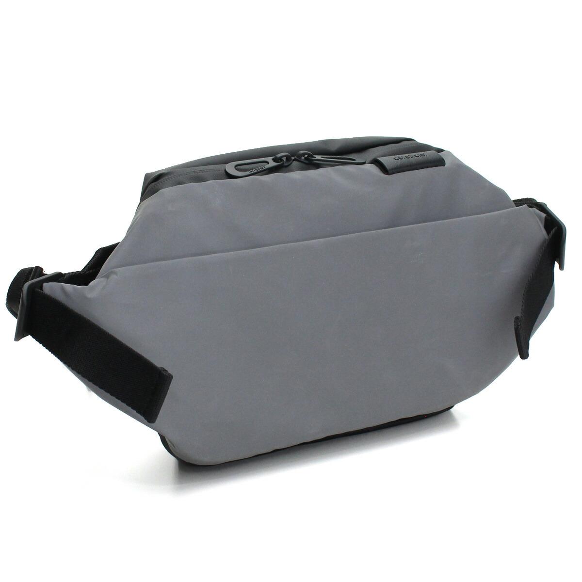 コートエシエル cote&ciel ISARU SMALL ボディバッグ 28722 MIMAS GREY REFLECT グレー系 ブラック メンズ レディース