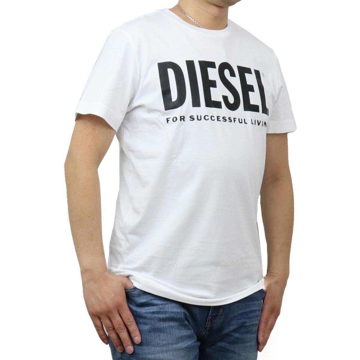 ディーゼル DIESEL メンズ-Tシャツ 00SXED 0AAXJ 100 ホワイト系 bos-43 apparel-01 ts-01 メンズ
