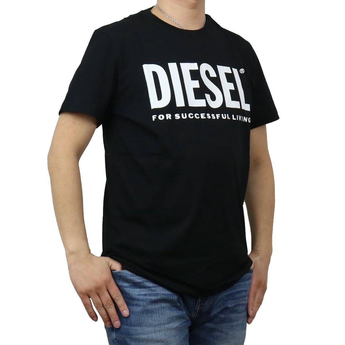 ディーゼル DIESEL メンズ-Tシャツ 00SXED 0AAXJ 900 ブラック bos-43 apparel-01 ts-01 メンズ
