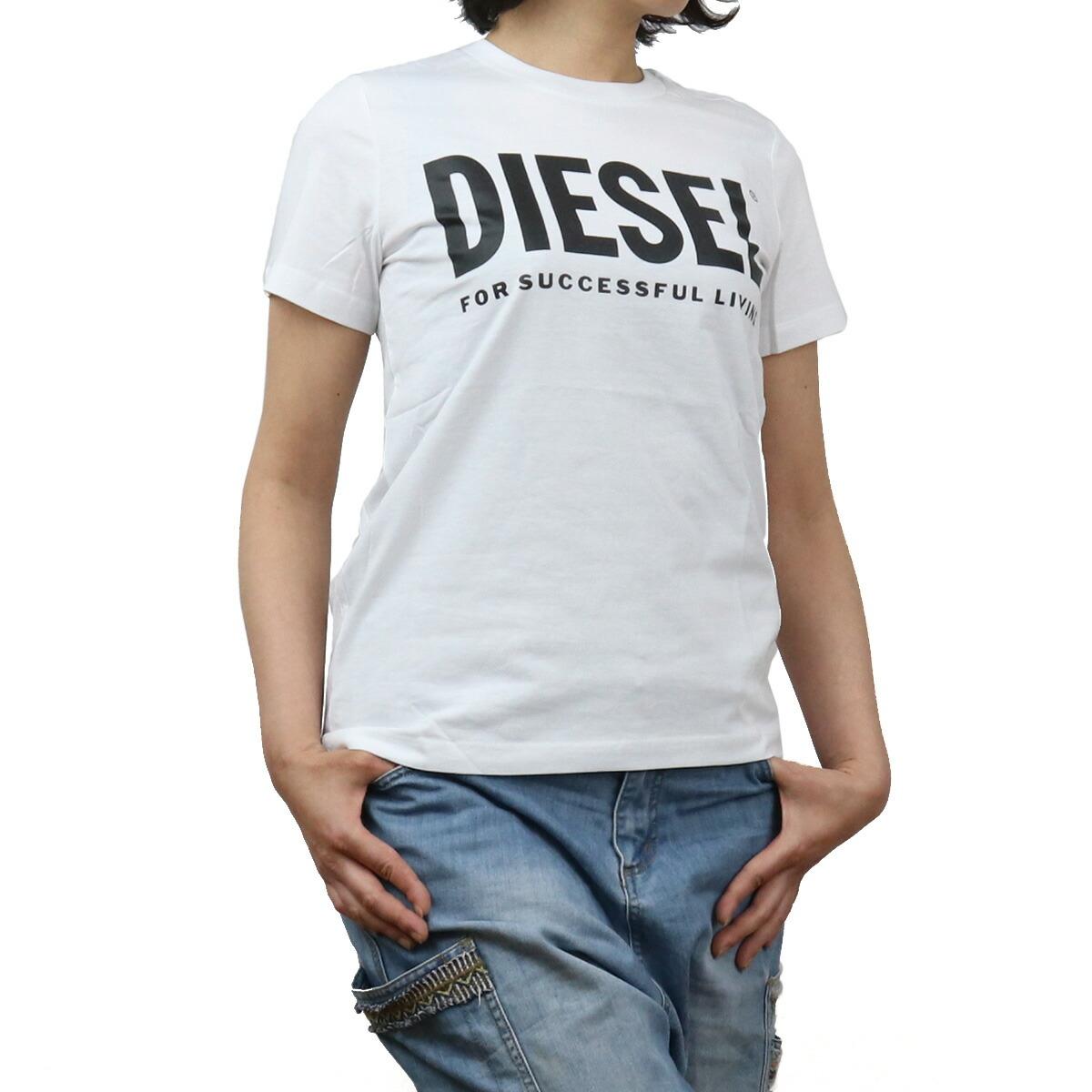 ディーゼル DIESEL レディース-Tシャツ 00SYW8 0CATJ 100 ホワイト系 bos-43 apparel-01 ts-01 レディース