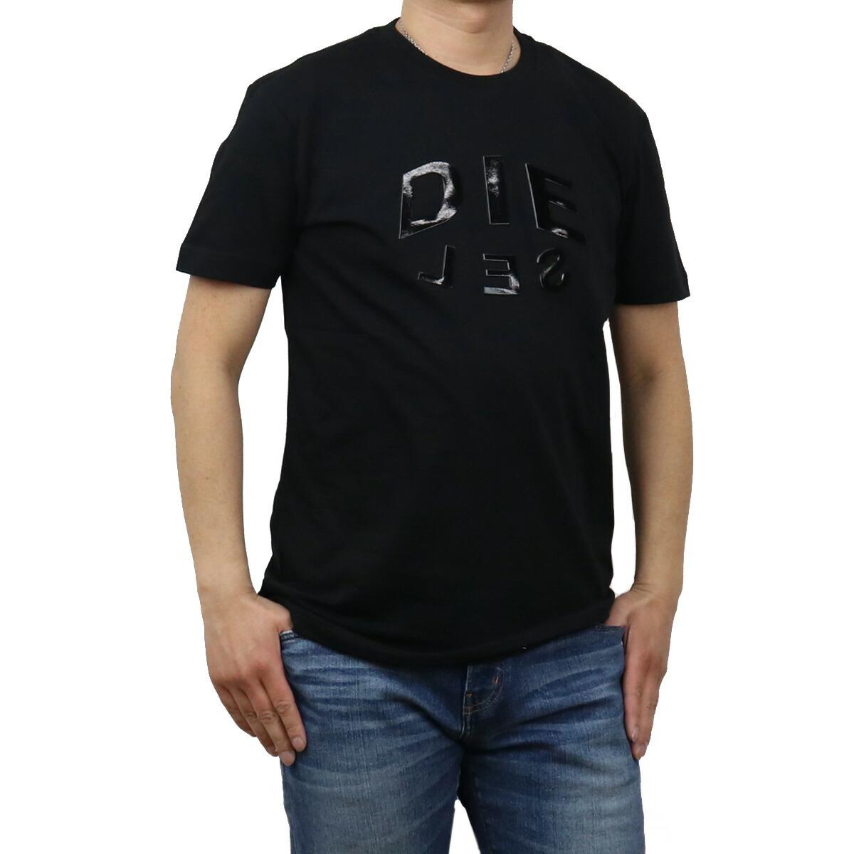 ディーゼル DIESEL メンズ-Tシャツ A01746 0PATI 9XX ブラック bos-43 apparel-01 ts-01 メンズ