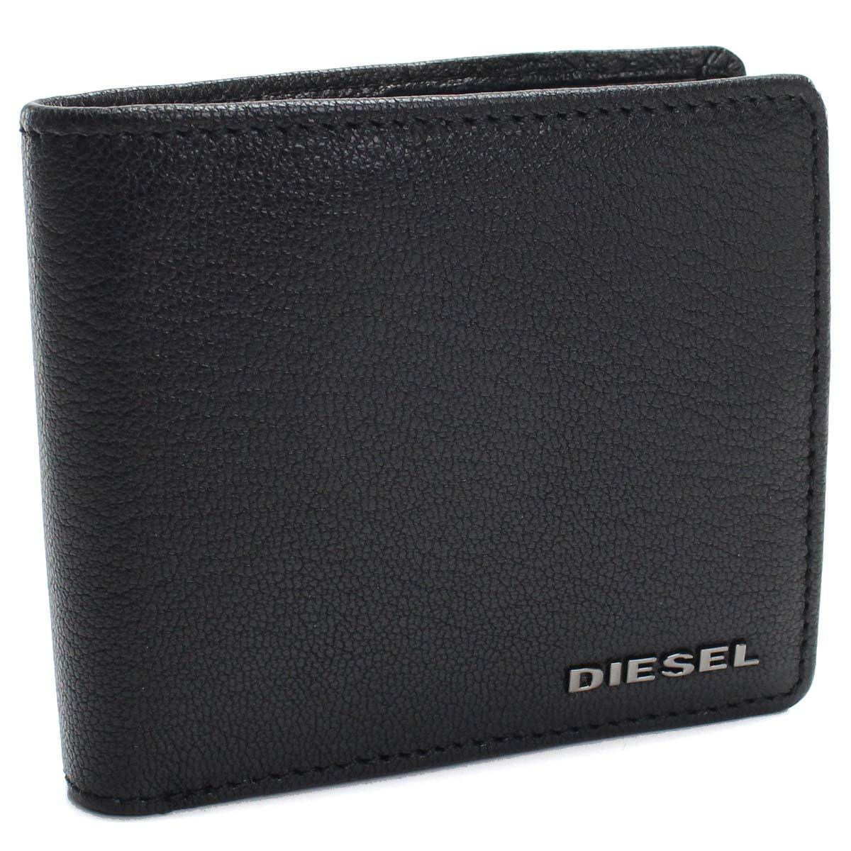 ディーゼル DIESEL レザー コンパクト 2つ折り財布 X06627 P0396 T8013 ブラック