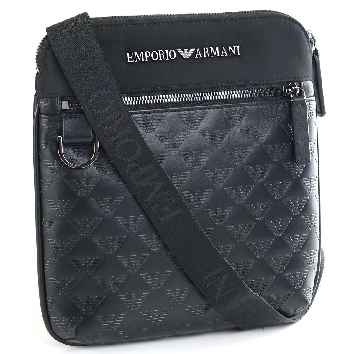 エンポリオ・アルマーニ EMPORIO ARMANI  斜め掛けショルダー ブランドバッグ Y4M185 Y072J 81073 BLACK/BLACK ブラック bag-01
