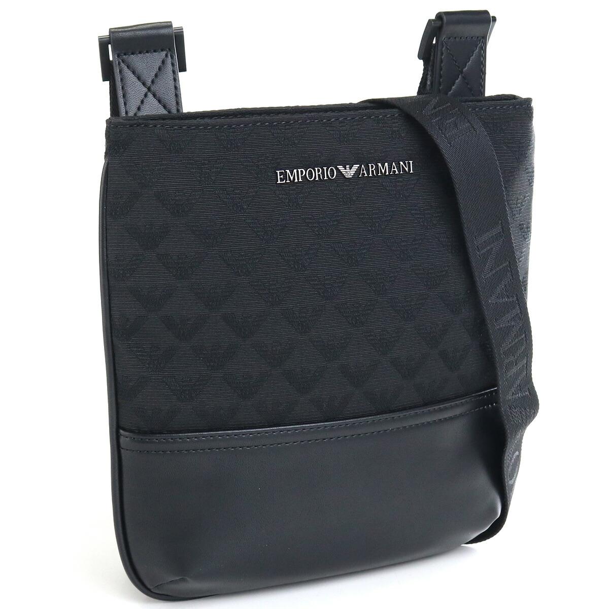 エンポリオ・アルマーニ EMPORIO ARMANI  斜め掛け ショルダーバッグ Y4M234 Y022V 81336 BLACK ブラック bag-01
