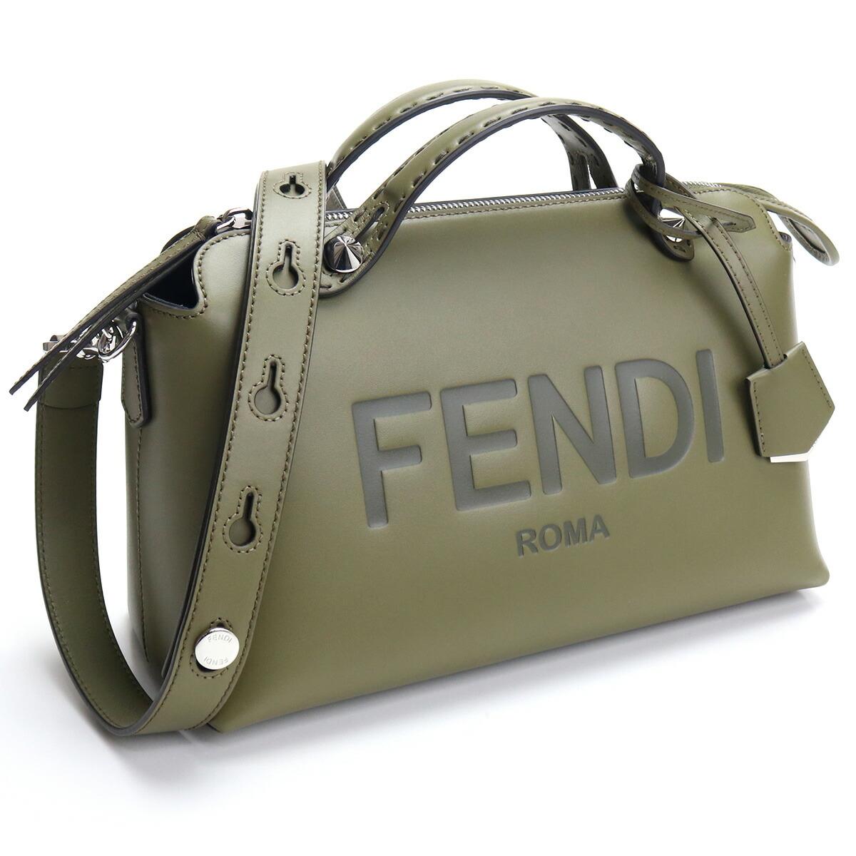 フェンディ FENDI ハンドバッグ 8BL146 AC9L F1DGD バイ ザ ウェイ BY THE WAY ショルダー付き 2WAY カーキ bos-15 bag-01 レディース