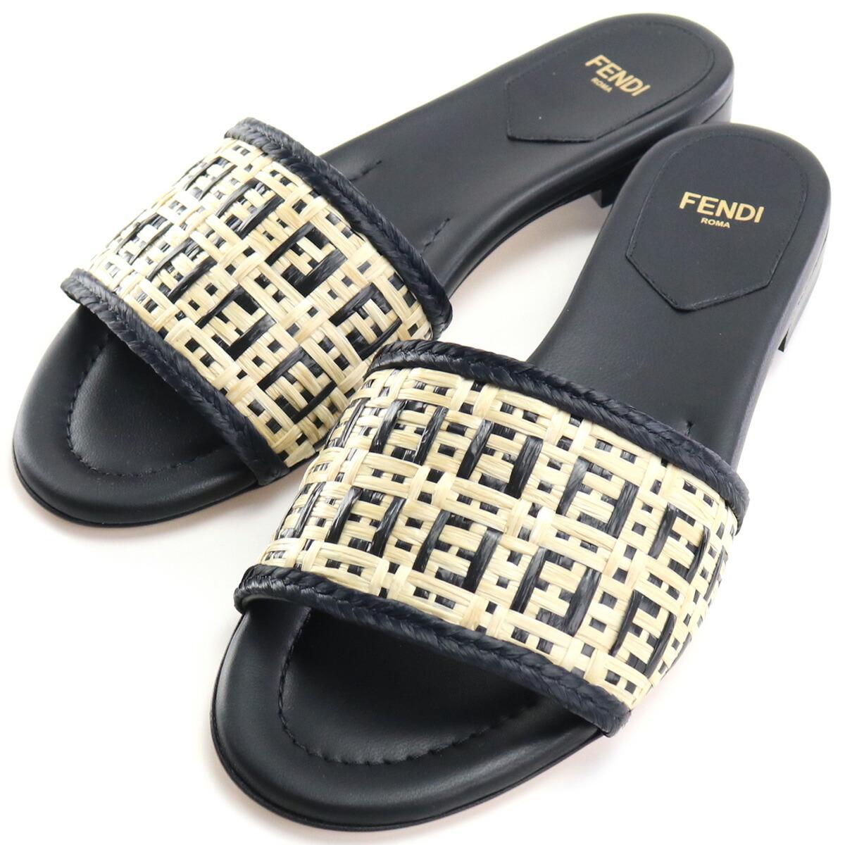 フェンディ FENDI  サンダル 8R8092 AEH7 F1D1U ブラック bos-15 shoes-01