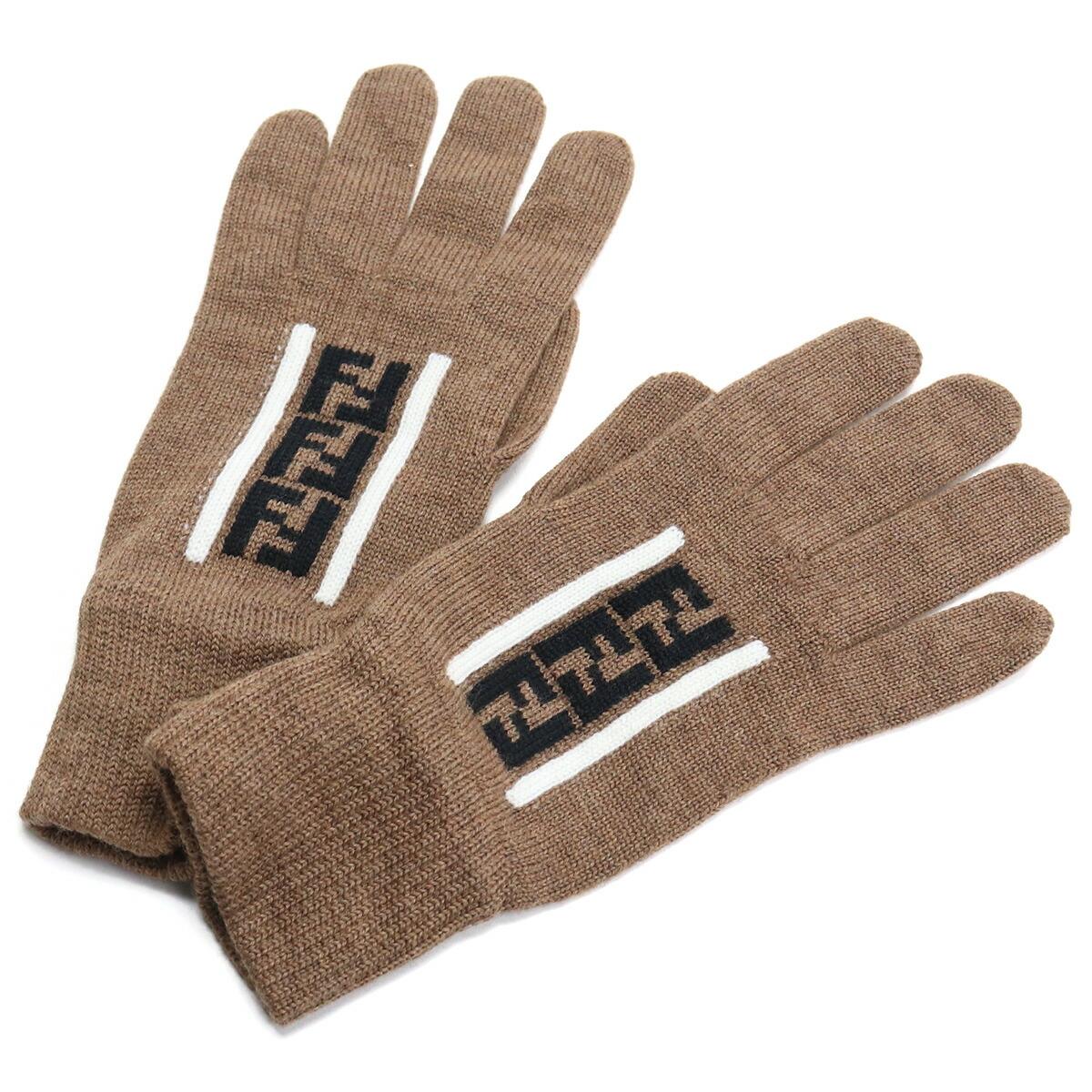 フェンディ FENDI メンズ-グローブ FFロゴ ウール FXY010 AA11 F19SF ブラウン系 bos-15 warm-03 glove-01 メンズ