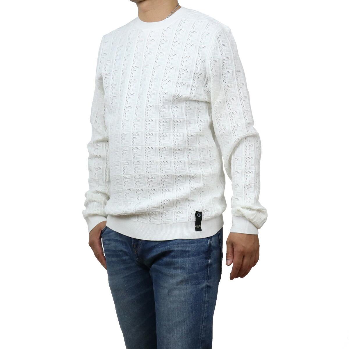 フェンディ FENDI  メンズ-セーター,ニット FZY431 AF83 F0QA0 ホワイト系 bos-15 apparel-01