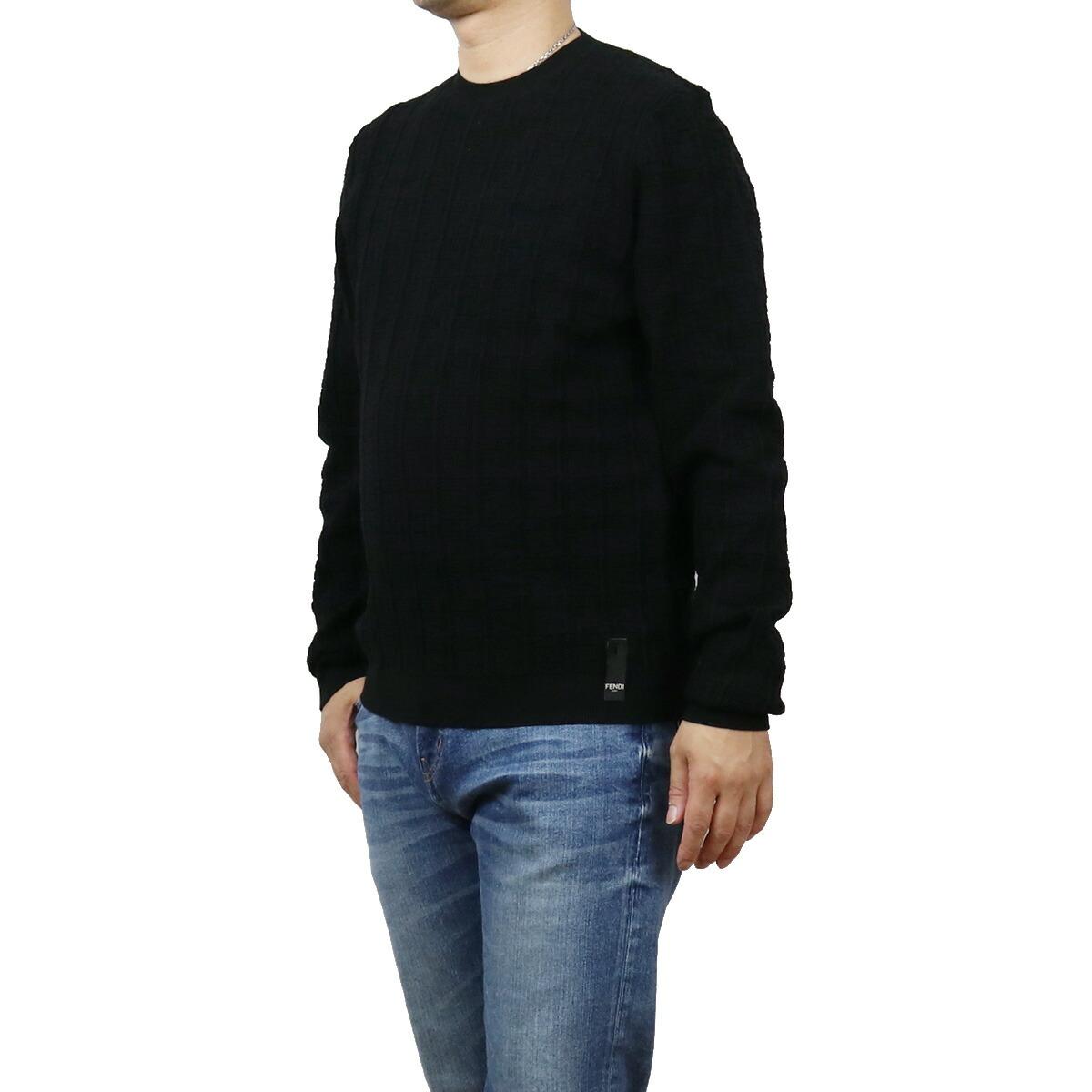 フェンディ FENDI  メンズ-セーター,ニット FZY431 AF83 F0QA1 ブラック bos-15 apparel-01