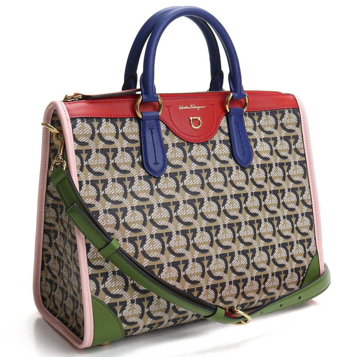 フェラガモ FERRAGAMO  ハンドバッグ ブランドバッグ 21-I074 0745734 GANCINISAND+FOSTER マルチカラー bos-31 bag-01