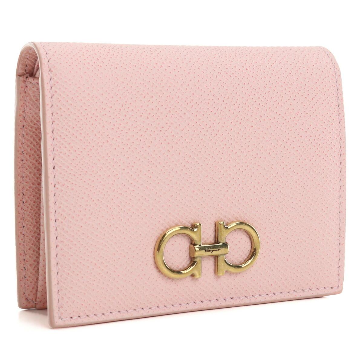 フェラガモ FERRAGAMO  2つ折り財布 ミニ財布 コンパクト財布 ブランド財布 22-D780 0746642 NYLUND PINK ピンク系 bos-31